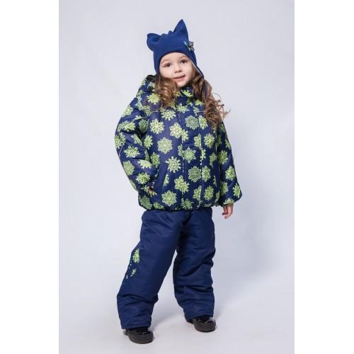 Детский Зимний Костюм Нью Микс расцветка Салат Кристалл