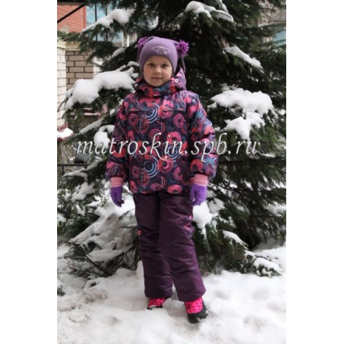 Детский Зимний Костюм Нью Микс расцветка Сферы Фиолет