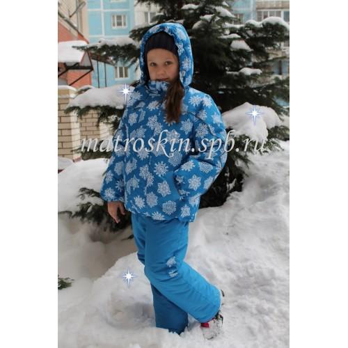 Детский Зимний Костюм Нью Микс расцветка Бирюза Кристалл