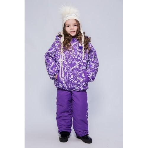 Детский Зимний Костюм Нью Микс расцветка Фиолет Узоры