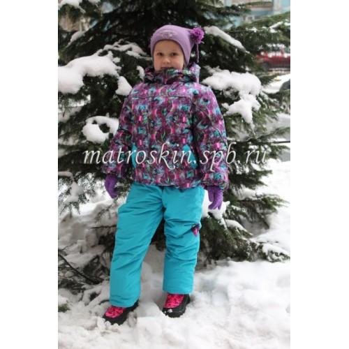 Детский Зимний Костюм Нью Микс расцветка Фиолет Бирюза