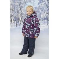 Детский Зимний Костюм New Style расцветка Цифры Баклажан