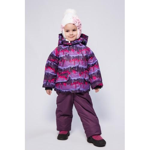 Детский Зимний Костюм New Style расцветка Сирень Краски