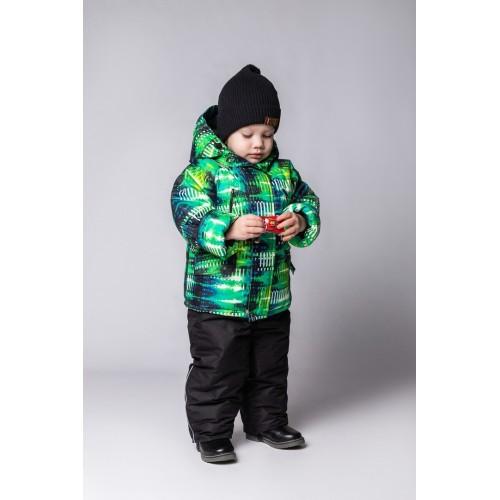 Детский Зимний Костюм New Style расцветка Салат Неон