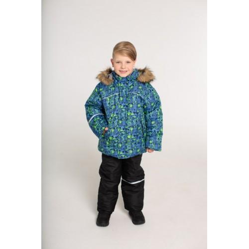 Детский зимний костюм Скиборд расцветка Бирюза Синий