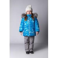 Детский Зимний Костюм Сноу Girl расцветка Голубой Кристалл