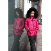 Детский Зимний Костюм Сноу Girl расцветка Малина Черный