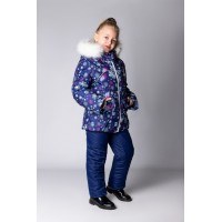 Детский Зимний Костюм Сноу Girl расцветка Зимняя Ночь