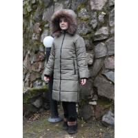 Детское Зимнее Пальто Frost line расцветка Хаки