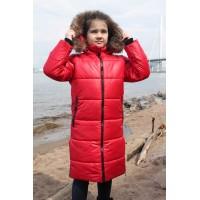 Детское Зимнее Пальто Frost line расцветка Алый