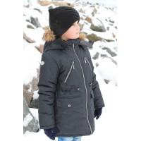 Детская Зимняя Куртка-Парка Арктика расцветка Черный