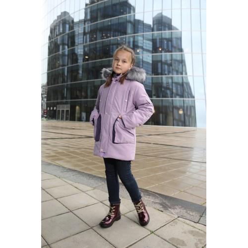 Детская Зимняя Куртка-Парка Ванкувер расцветка Сирень