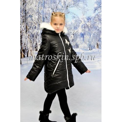 Детское Зимнее Пальто Армель расцветка Чёрно-Белый