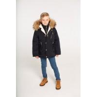 Детская Зимняя Куртка-Парка расцветка Черный