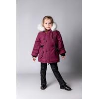 Детская Зимняя Куртка-Парка расцветка Баклажан