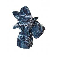 Детские зимние краги расцветка Сферы Голубой